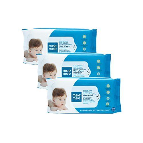 Mee Mee Baby Gentle Wet Wipes ((72 Pcs,Pack of 03), Lemon Gentle Multipurpose)