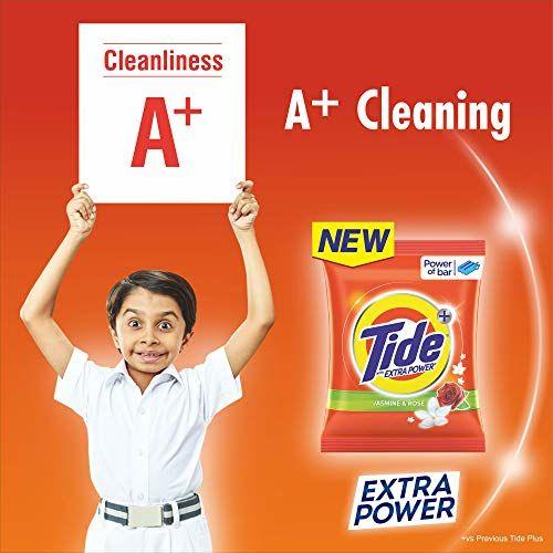 Tide Plus Extra Power Detergent Washing Powder - 7 kg (Jasmine and Rose) with Free Detergent Powder - 3 kg