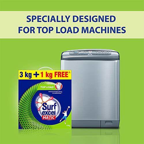 Surf Excel Matic Top Load Detergent Powder, 3 Kg + 1 kg Free