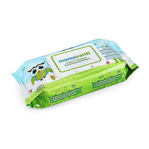 Mamaearth's Plant Based Baby Laundry Liquid Detergent, with Bio-Enzymes and Neem Extracts, 1L & India's First Organic Bamboo Based Baby Wipes (72 Wipes) Combo