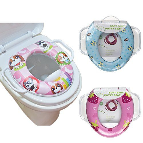 Rachna Soft Padding Potty Lavatory Seat With Handles - Multicolor - Upto 3 Years (Print May Vary)