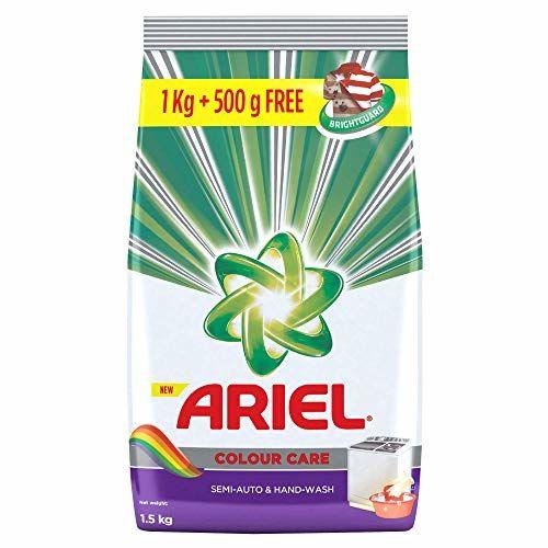 Ariel Colour Detergent Washing Powder - 1 kg with Free Detergent Washing Powder - 500 g