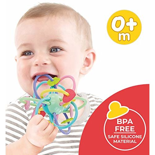 Orapple Teether Jolly Rings BPA Free Silicon Teether for Babies 0 to 12 Months (Multi Color)