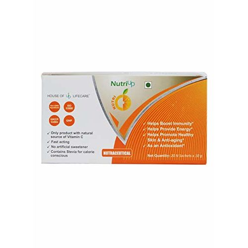Nutriup Vitamin C Energy Drink Powder With Natural Extracts Of Acerola Cherry, Grape and Organic Amla for Immunity Boost, Antioxidant & Herbal Supplement for