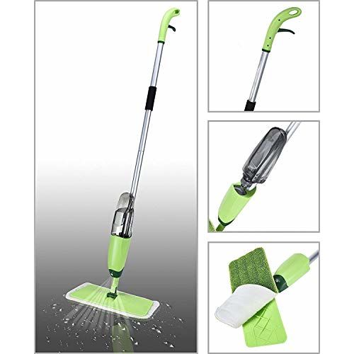Dannu Stainless Steel Microfiber Floor Cleaning Spray Mop with Removable Washable Cleaning Pad and Integrated Water Spray Mechanism, mop for Cleaning Floor,