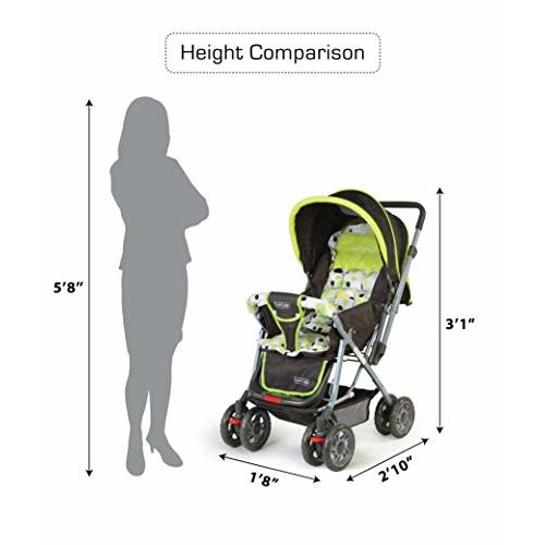 LuvLap Sunshine Graco Click Connect Stroller for Newborn Baby
