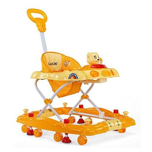 LuvLap Baby Walker Comfy Yellow