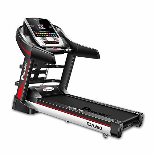 PowerMax Fitness TDA-260 Series (2.0HP) Multi-Function Motorized Treadmill (FREE INSTALLATION)Auto Lubrication | BMI | Auto-Incline | Android OSRunning Machine
