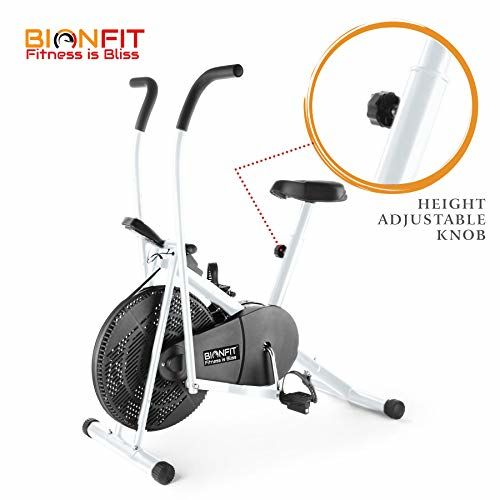 BIONFIT ON01M Indoor Stationary Air Bike Exercise Cycle for Home Gym Cardio Full Body Weight Loss Workout - Pre Installation Support