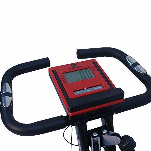 Endless EL 8352 Steel Foldable Exercise Magnetic Bike (Red/Black)