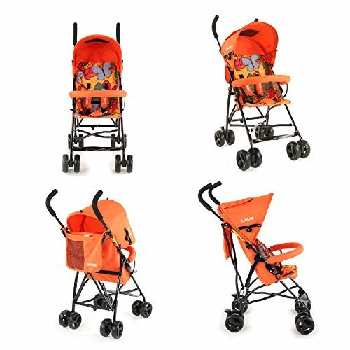 LuvLap Tutti Frutti graco click connect stroller double Compact & Travel Friendly for Baby Kids