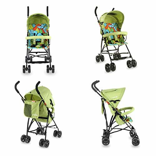 LuvLap Tutti Frutti Stroller/Buggy, Compact & Travel Friendly, for Baby/Kids, 6-36 Months (Green)