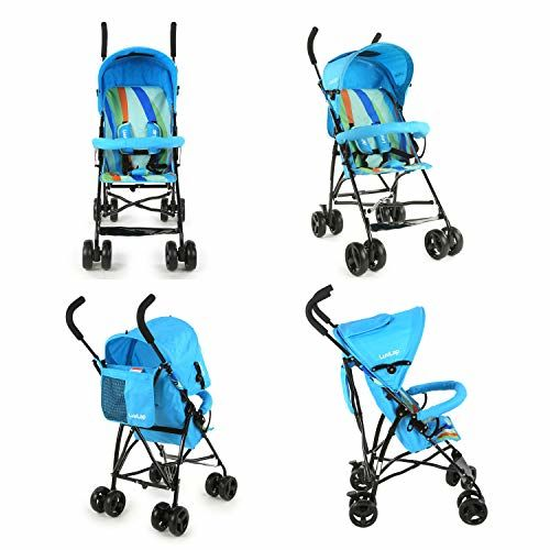 LuvLap Tutti Frutti Stroller/Buggy, Compact & Travel Friendly, for Baby/Kids, 6-36 Months (Light Blue)