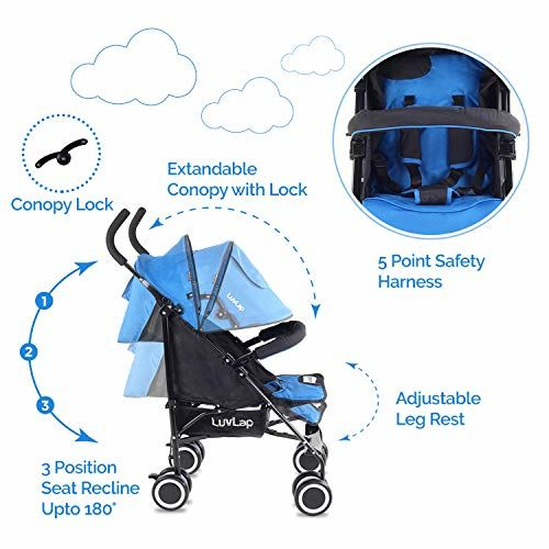 LuvLap City Chicco Liteway Stroller Buggy Compact & Travel Friendly For Baby Kids