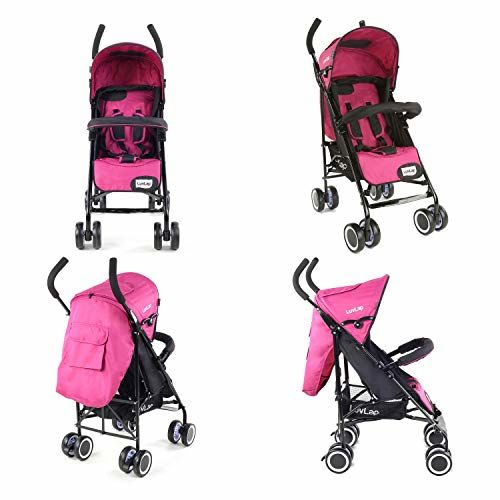 LuvLap City Stroller/Buggy, Compact & Travel Friendly, for Baby/Kids, 6-36 Months (Pink)