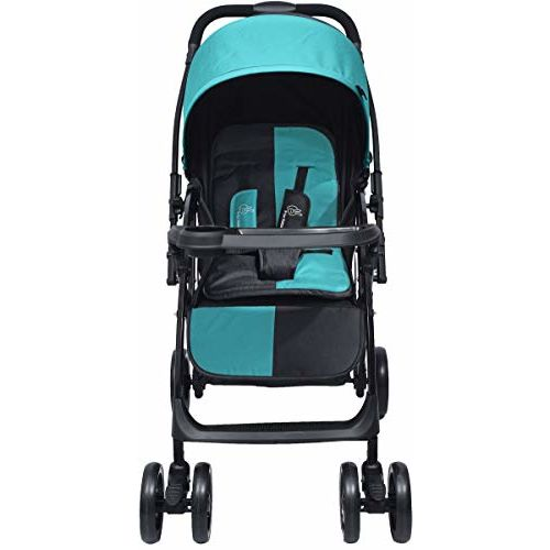 R for Rabbit Cuppy Cake Grand Stroller and Pram for Baby Kids Infants New Born Boy Girl of 0 to 3 Years (Blue Black)
