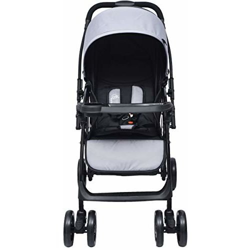 R for Rabbit Cuppy Cake Grand Stroller and Pram for Baby|Kids|Infants|New Born|Boy|Girl of 0 to 3 Years(Black Grey)