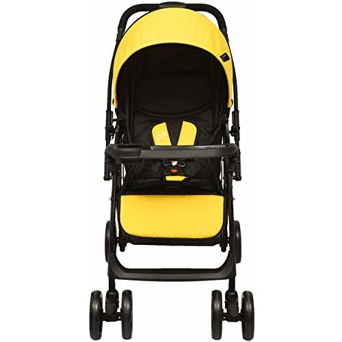 R for Rabbit Cuppy Cake Grand Stroller and Pram for Baby|Kids|Infants|New Born|Boy|Girl of 0 to 3 Years(Yellow Black)