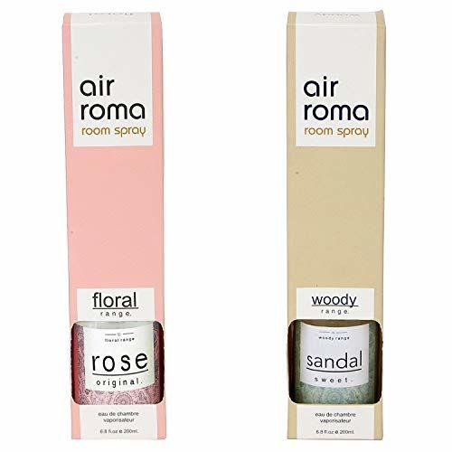 AIR-ROMA AirRoma Combo of Rose Original Fragrance Air Freshener Spray 200 ml & Sandal Sweet Fragrance Air Freshener Spray 200 ml