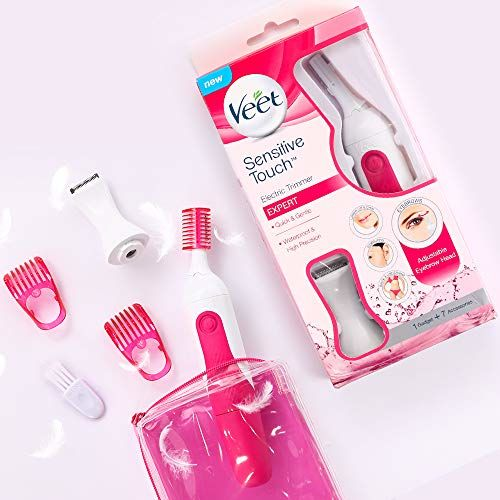 Veet Sensitive Touch Expert Trimmer for Face, Underarms and Bikini line Battery & Carry Pouch included