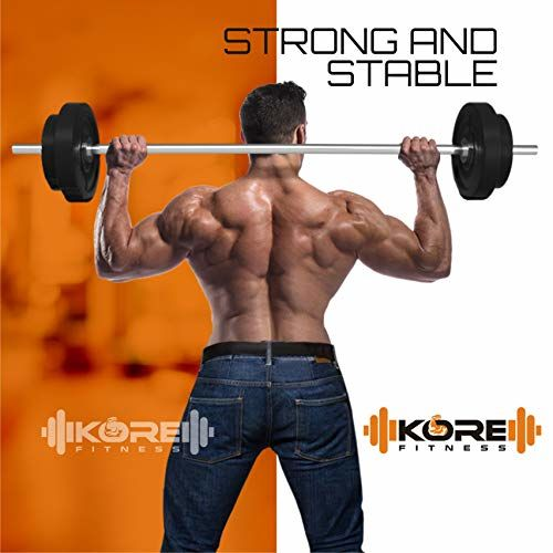 Kore PVC 30 Kg Home Gym Set with One 3 Ft Curl + One 5 Ft Plain Rod and One Pair Dumbbell Rods