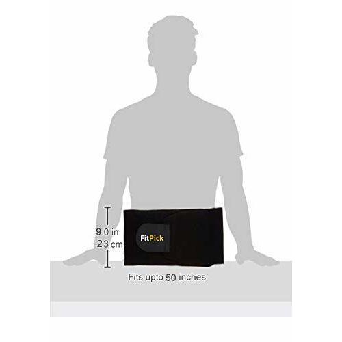 FIT PICK Sweat Slim Belt for Fat Burning | Slimming Belt | Tummy Trimmer Exerciser | Waist Trainer for Men and Women