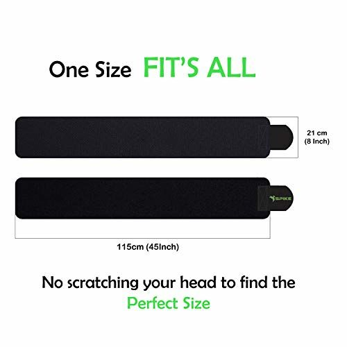 Spike Sweat Slim Belt for Fat Loss Weight Loss and Tummy Trimming Exercise for Both Men and Women (Black)