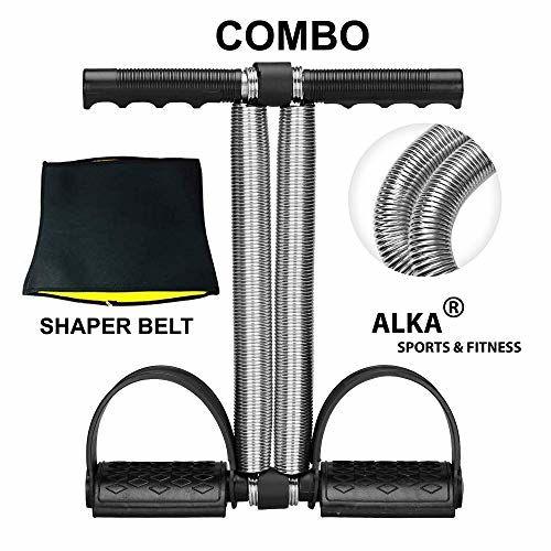 ALKA Combo Tummy Trimmer-with Hot Slim Belt Waist Trimmer-Abs Exerciser-Body Toner-Fat Buster- Multipurpose Fitness Equipment for Men and Women