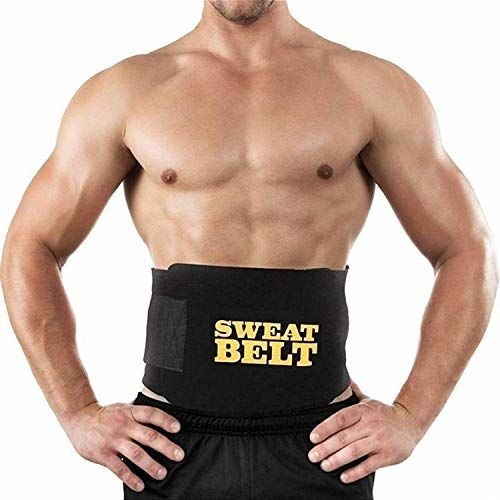 DAZIBAO Sweat Waist Trimmer Yoga Wrap Weight Loss Fat Burner Slimming Belt for Men and Women (Black) (Free Size)