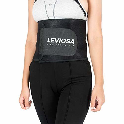 Leviosa Unisex Neoprene Waist Slimming Sweat Belt (Black; Small)