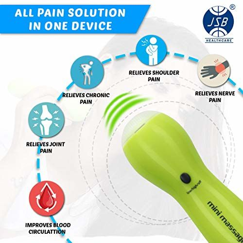 JSB HF54 Travel Mini Body Massager for Pain Relief & Muscle Relaxation