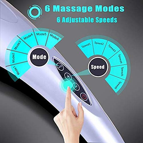 MEDITIVE Handheld Deep Tissue Massager Percussion Massage Machine for Muscles Back Neck Shoulder Leg- Hand Held Electric Back Massager for Neck and Back Full