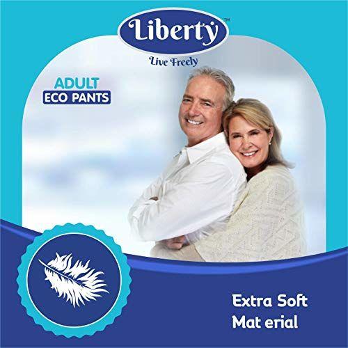 Liberty Eco Adult Diaper Pants Unisex, Medium 20 Pcs, Waist Size (61-115 cm   24-45 Inches)