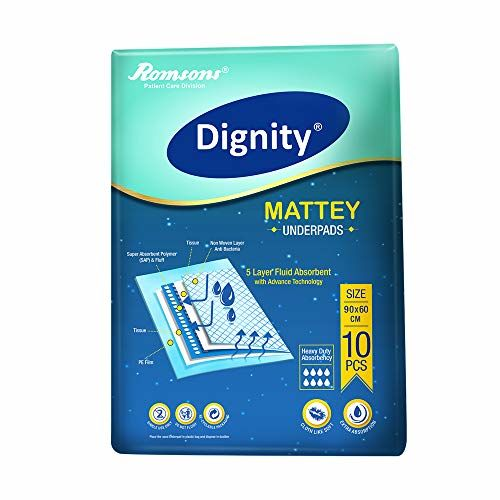 Dignity Mattey Underpads 10 Pcs, Size 60 * 90cm (Pack of 3)