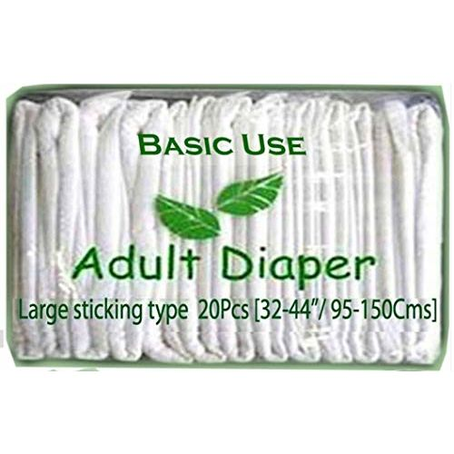 UB Bu Adult Diapers Large Sticking Type 20 Pieces (32-44