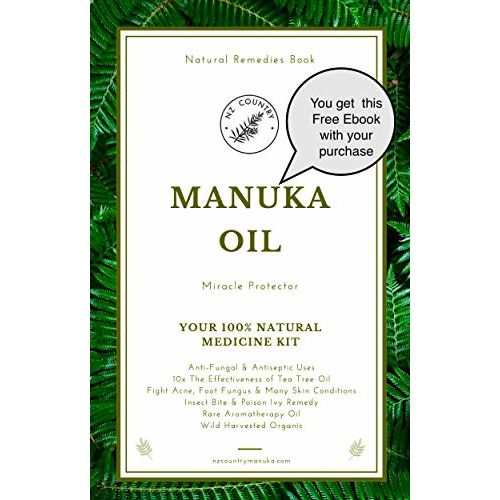 Hill Country Manuka Manuka Oil 100 Natural Anti-Fungal, Antiseptic, Fights Acne, Foot Fungus, Skin, Staphylococcus Infections 10x Power of Tea Tree Oil