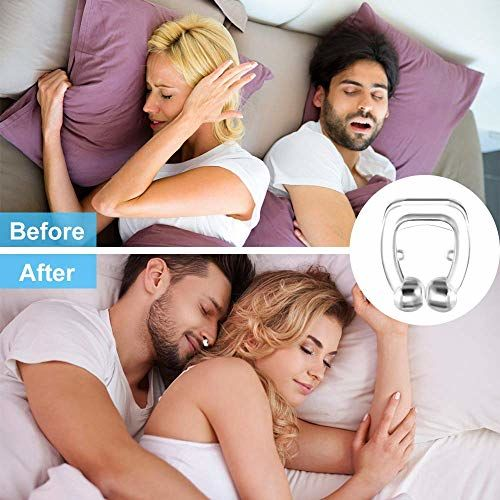 AMAZHEAL Anti Snoring Devices Silicone Nose Clip Relieve Snore Sleeping Aid Devices for Ease Breathing for Men Women (Pack of 2)