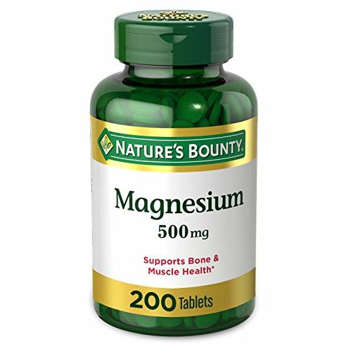 Nature's Bounty Nature Bounty, Magnesium, High Potency, 500 mg, 200 Coated Tablets NRT-53086