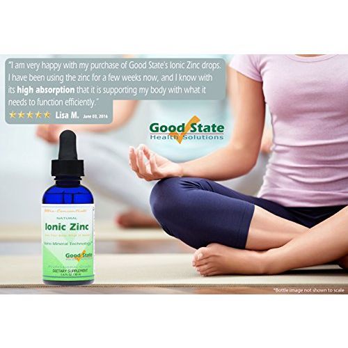 Good State Liquid Ionic Zinc Ultra Concentrate Drops, 15 mg, 1.6 Fluid Ounce - 100 servings per bottle