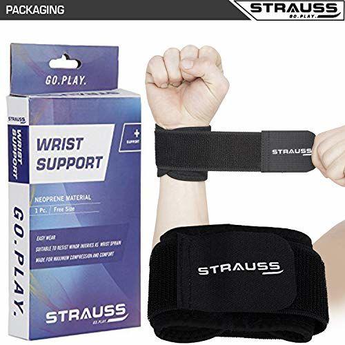 Strauss Wrist Support, Free Size, (Black)