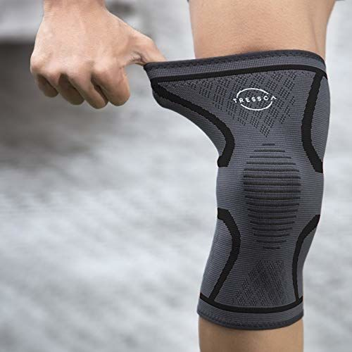 TRESSCA KNEE SUPPORT WITH BEST KNEECAP COMPRESSION Provides Perfect Knee Support for GYM, Badminton, Running, Weight Lifting  QUANTITY : 1 unit