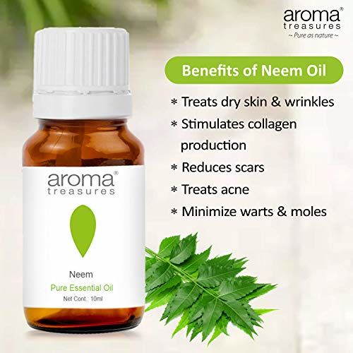Aroma Treasures 100% Pure & Natural Essential for healthy Skin/body & mind (Neem Essential Oil)