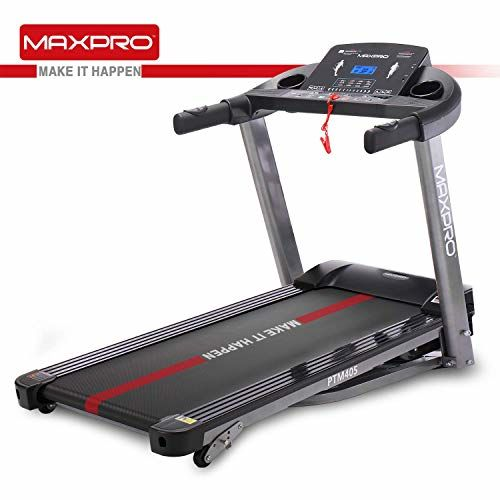 Welcare MAXPRO PTM405 2HP(4 HP Peak) Folding Treadmill, Electric Motorized Power Fitness Running Machine with LCD Display and Mobile Phone Holder Perfect for Home Use