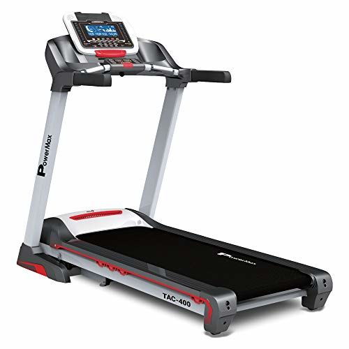 PowerMax Fitness TAC-400 4HP (6HP Peak) Motorized Treadmill with Free Installation Assistance, Home Use & Automatic Incline