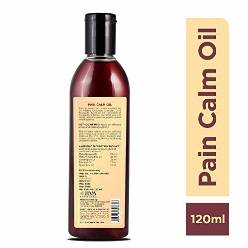Jiva Pain Calm Oil - Ayurvedic pain relief oil for joint, back, knee, shoulder and muscular pains - 120ML