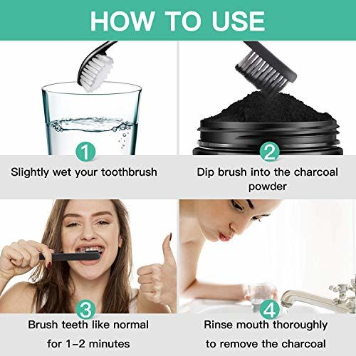 Aspiiro Natural 7 AM Organic Instant Teeth Whitening Charcoal Powder - 50 gm | All Natural Spearmint Flavor to Removes Tooth Stains & Bad Breath | Teeth