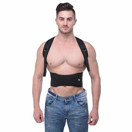 SpiffySky Posture Corrector Shoulder Back Support Belt for Men and Women (Waist Size:32 to 38 Inch)