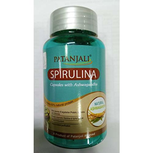 Patanjali Spirulina with Ashwagandha 60Capsule (Pack of 1)