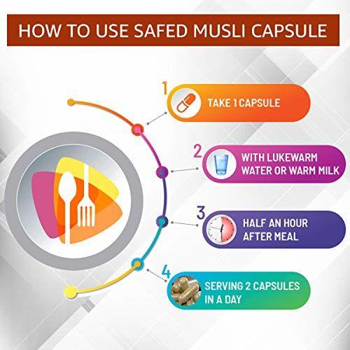 Nutriherbs Safed Musli Organic 800 Mg 60 Capsules (Pack of 1)