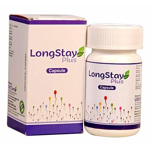 Longstay Plus. Ayurvedic formula with Shilajit, Musli, Ashwagandha.- 30 Capsules, (Pack of 1)
